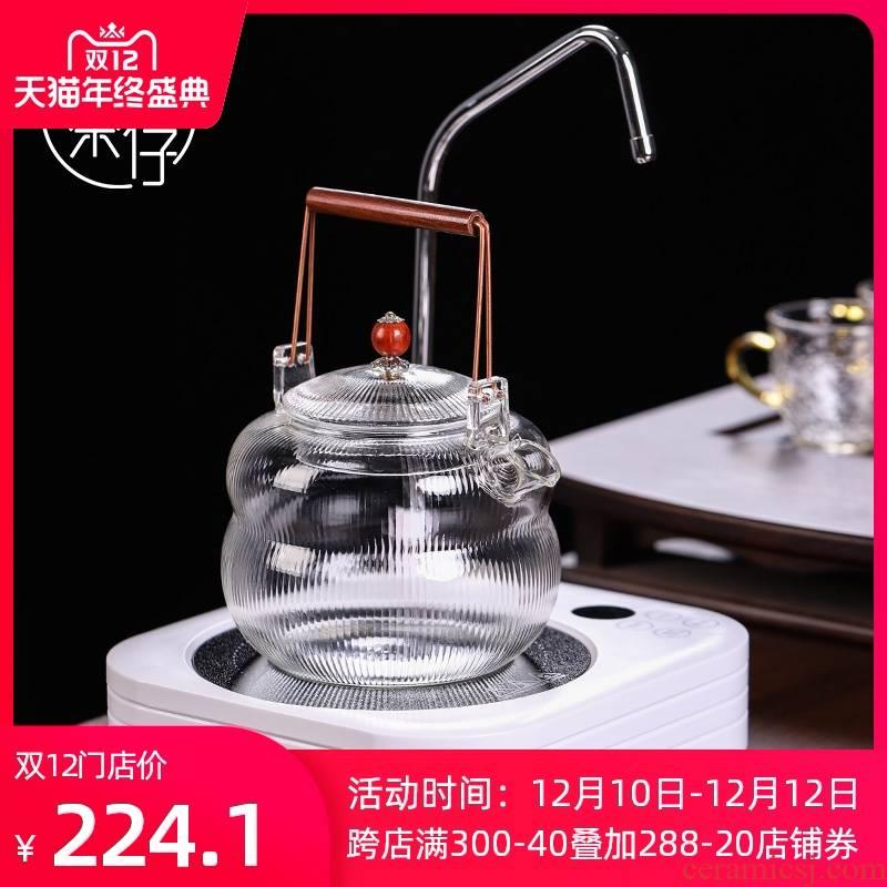 White electricity TaoLu tea tea cooking small tea is tea set.mute little tea stove'm kettle automatically sheung shui household