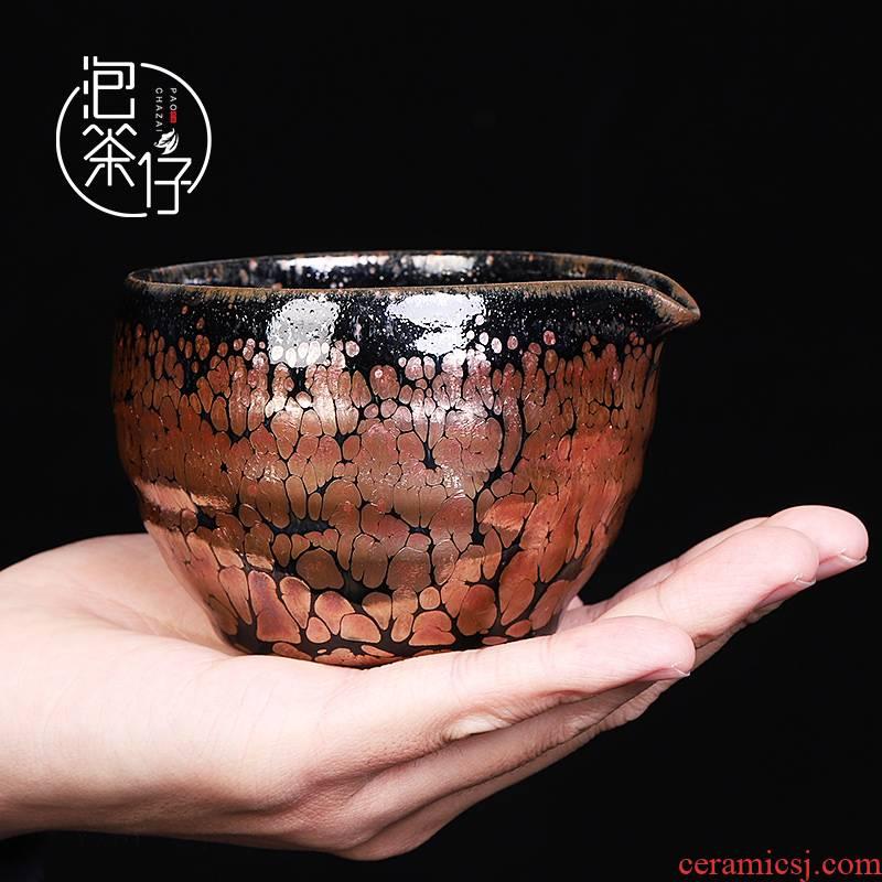 Kung fu tea set just a cup of tea sea built one pure manual firewood ceramics points make tea cups, a single small no