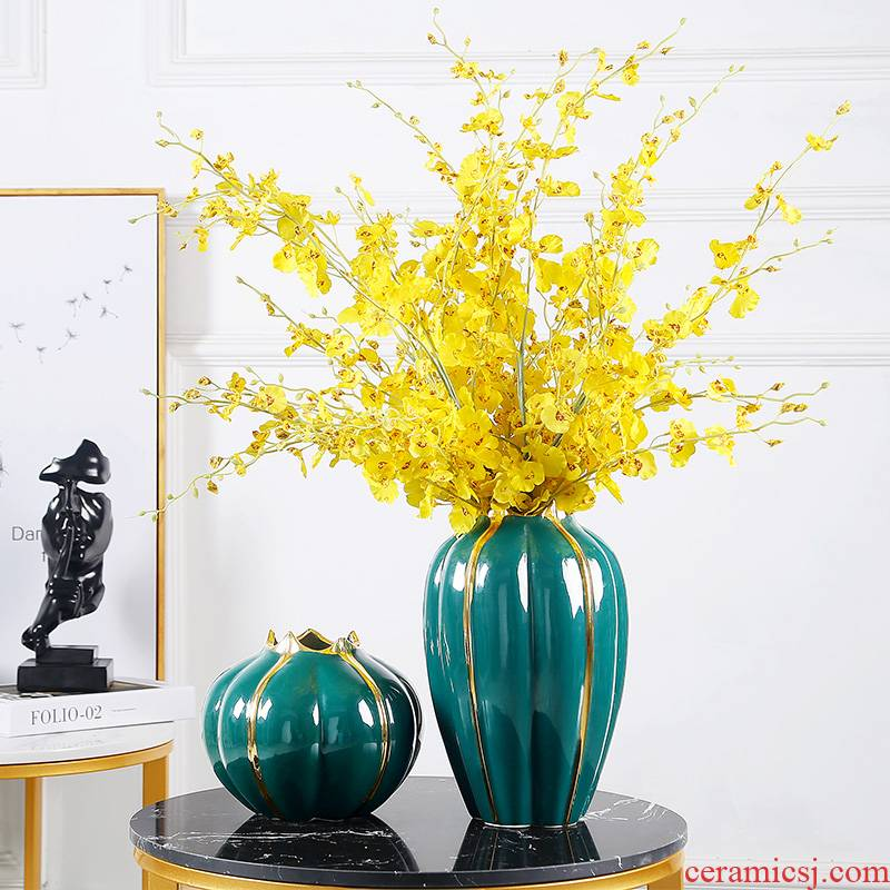Jingdezhen I and contracted ceramic vases, TV ark, flower arranging furnishing articles table dry flower flowers sitting room, home decoration