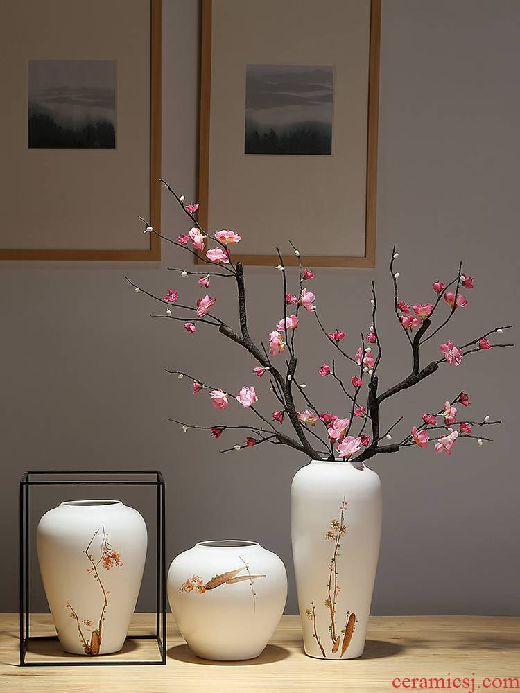 Mesa of jingdezhen ceramic vase club show small place manual painting new Chinese flower arranging sitting room adornment