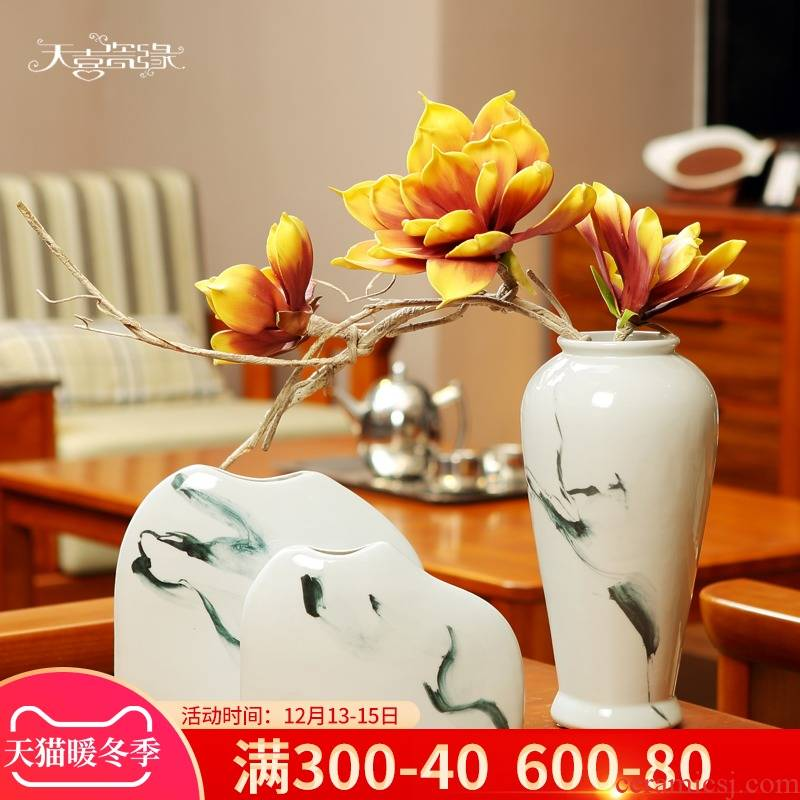 New Chinese style study zen furnishing articles ceramic vases, creative household act the role ofing is tasted, the sitting room porch TV ark, flower porcelain