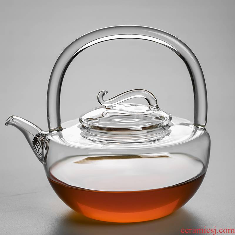 Pot of thickening Pyrex glass girder electric TaoLu cooking Pot filtering high - temperature teapot large capacity kettle