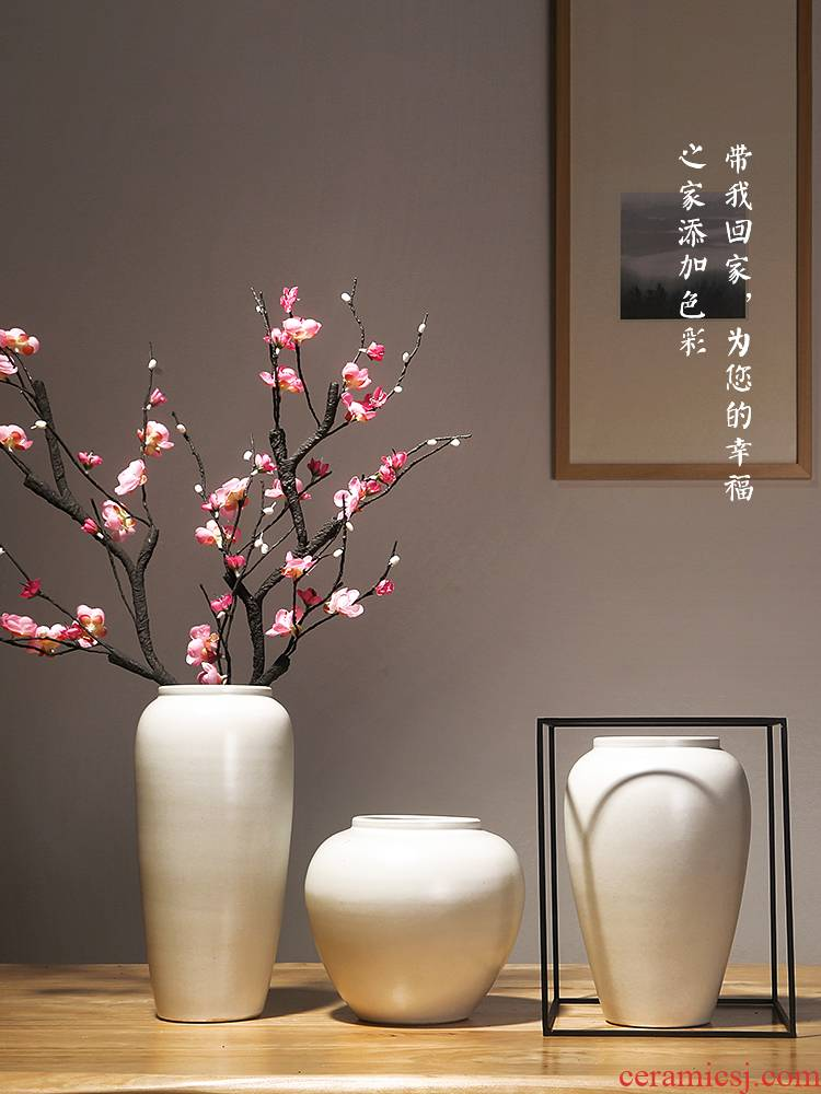 Chinese jingdezhen ceramics vase European sitting room is I and contracted home furnishing articles dry flower arranging flowers adornment