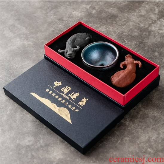 Ya xin company built hall jianyang light ceramic cups personal special checking master CPU working quality goods to build kilns kung fu tea set