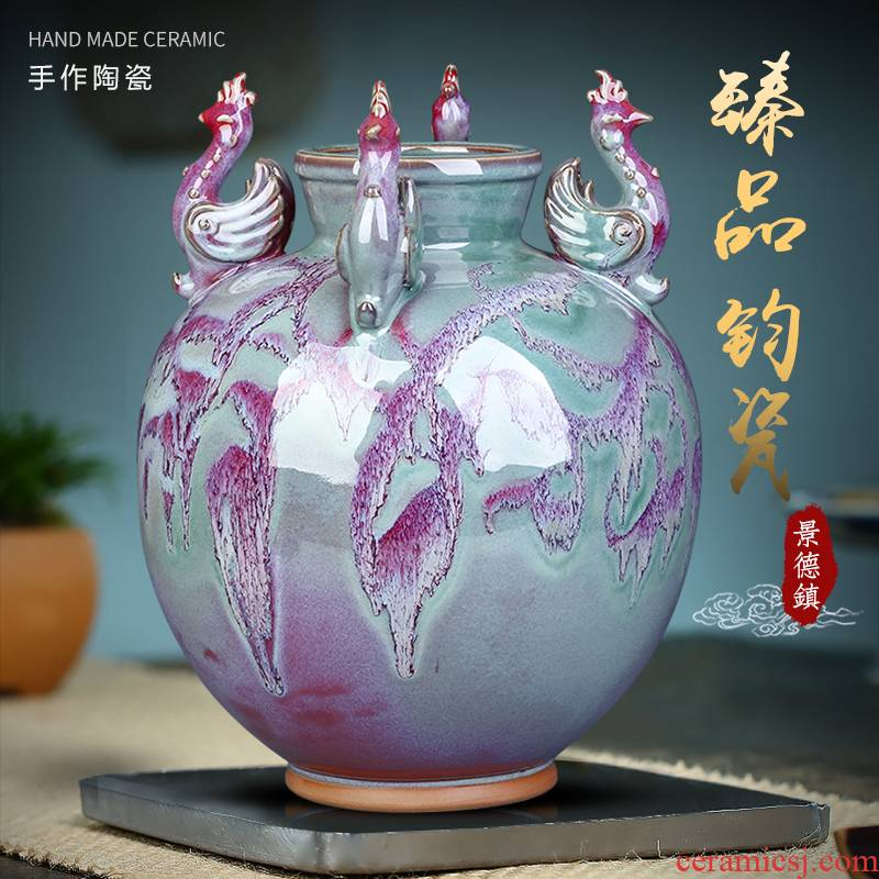 Jingdezhen ceramics, vases, antique Chinese style household porcelain of flower arrangement sitting room TV ark, rich ancient frame decorative furnishing articles