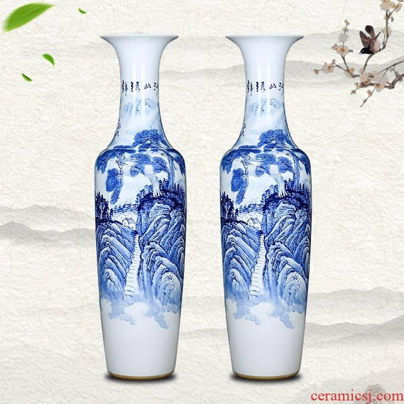 Jingdezhen ceramics high large vases, hand - made landing craft splendid sunvo furnishing articles household the opened the hall