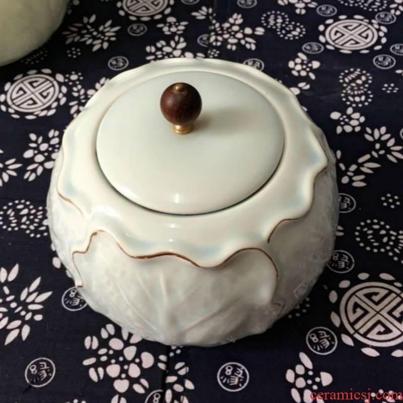 Tea service of Tea packing box elder brother up with celadon coarse pottery Tea pot seal size copy your up ceramic Tea pot
