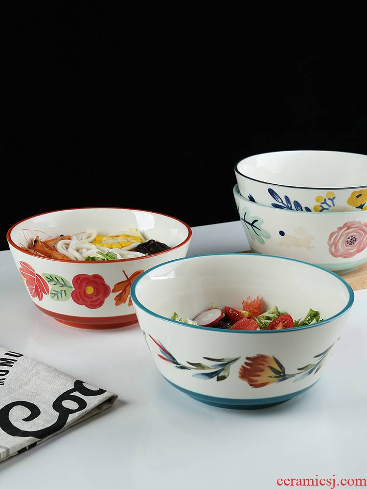 Japanese theme of the four seasons ceramic tableware, lovely home eat rice bowls bowl hat to use good - & bowl of move