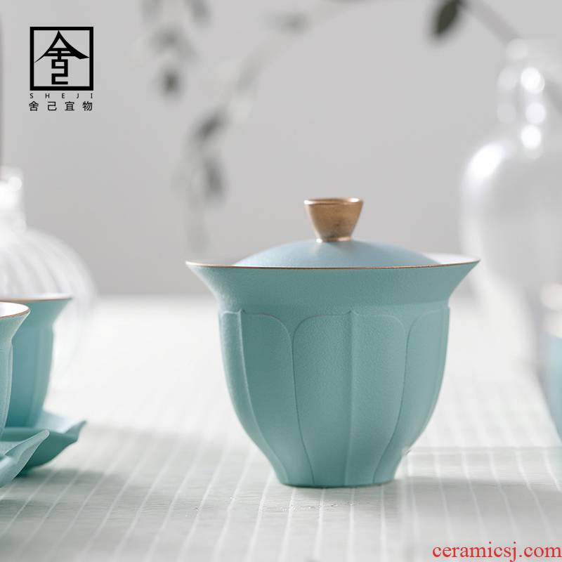 """The Self - """"appropriate content manual tureen single CPU use kung fu tea set the see colour of jingdezhen bowl GaiWanCha light of key-2 luxury"""