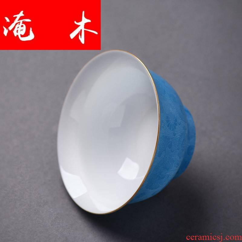 Flooded hand - made wooden jingdezhen ceramics industry to plunge into the steak spend three to tureen famille rose bowl is kung fu