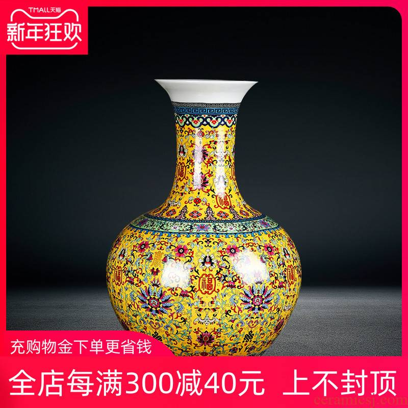 Jingdezhen ceramics of large vases, antique Chinese style porch sitting room decorations furnishing articles ferro, large bottle