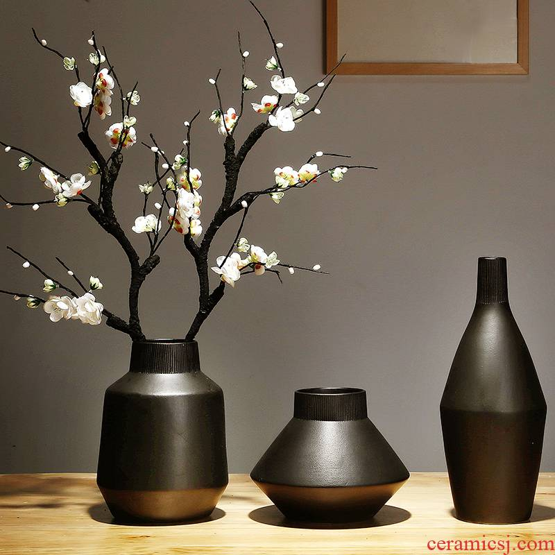 Jingdezhen ceramics vase manual I and contracted style sitting room porch place flower arranging household ornaments