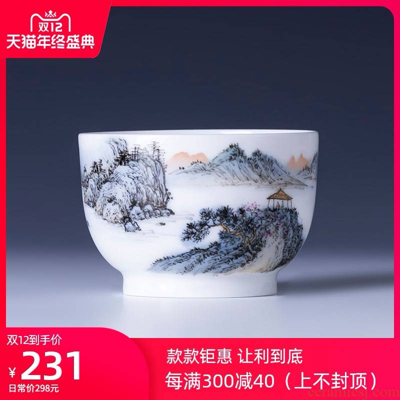 The big lake Geneva teacups hand - made ceramic kung fu new color master cup sample tea cup all hand of jingdezhen tea service