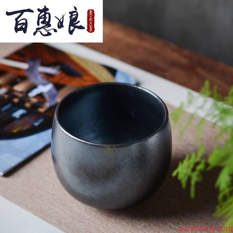 (niang small tea to wash the black glaze jingdezhen ceramic checking retro Japanese built water slag bucket bath water meng accessories
