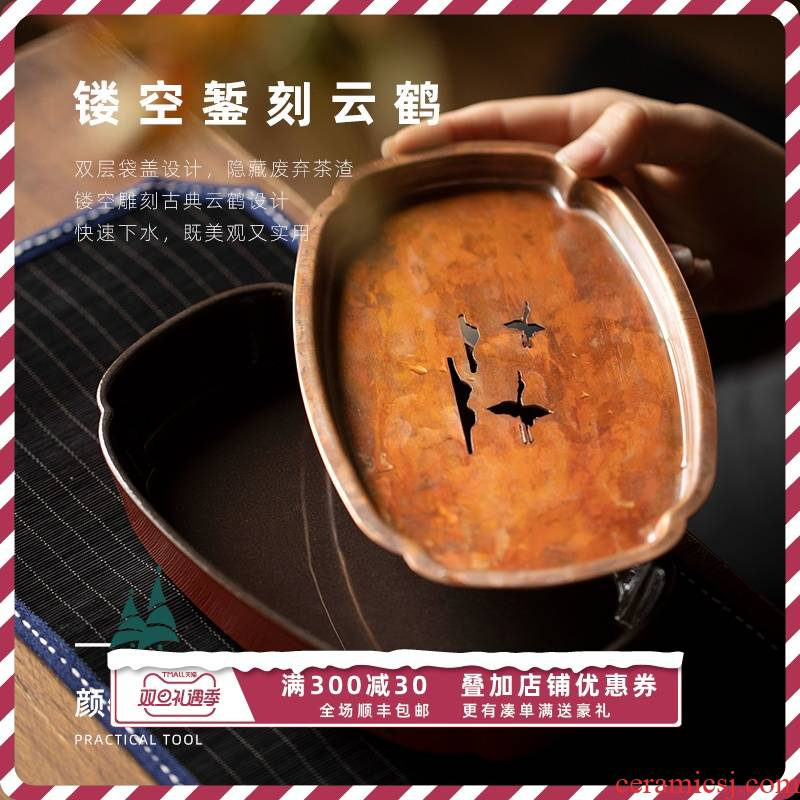 Lam, wishful pot bearing removable clay pine hall high temperature color glaze saucer dish of jingdezhen kung fu tea set dry terms