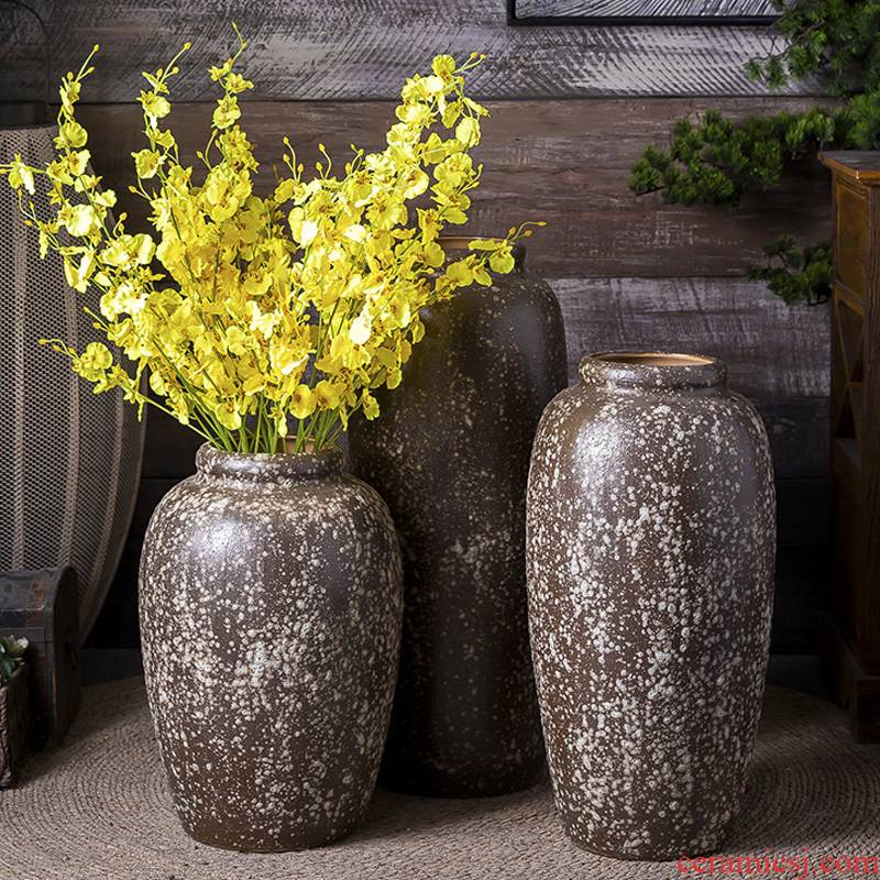 Ground vase manually restoring ancient ways is dried flowers thick courtyard mall flower implement earthenware pottery jar archaize hydroponic flower pot