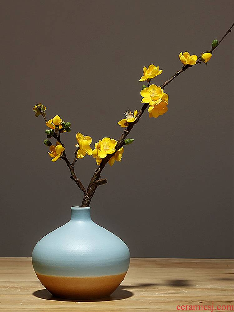Jingdezhen ceramics craft vase, I and contracted sitting room porch flower arranging new Chinese style household adornment furnishing articles