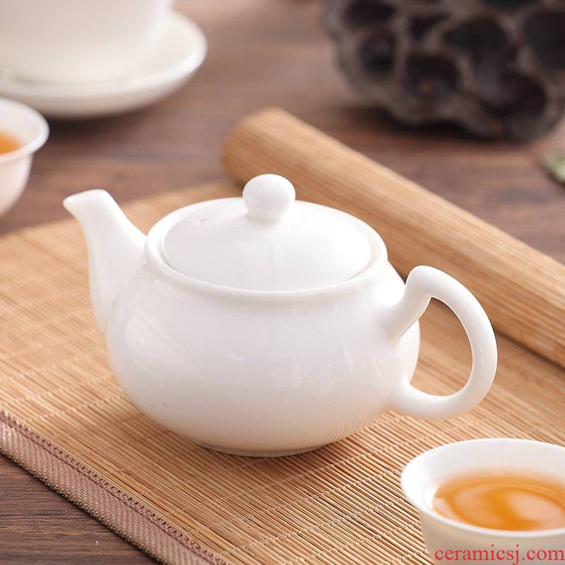 Chaozhou ceramic ipads China porcelain contracted household pure white jade small tureen tea cups three POTS bowl of kung fu tea set