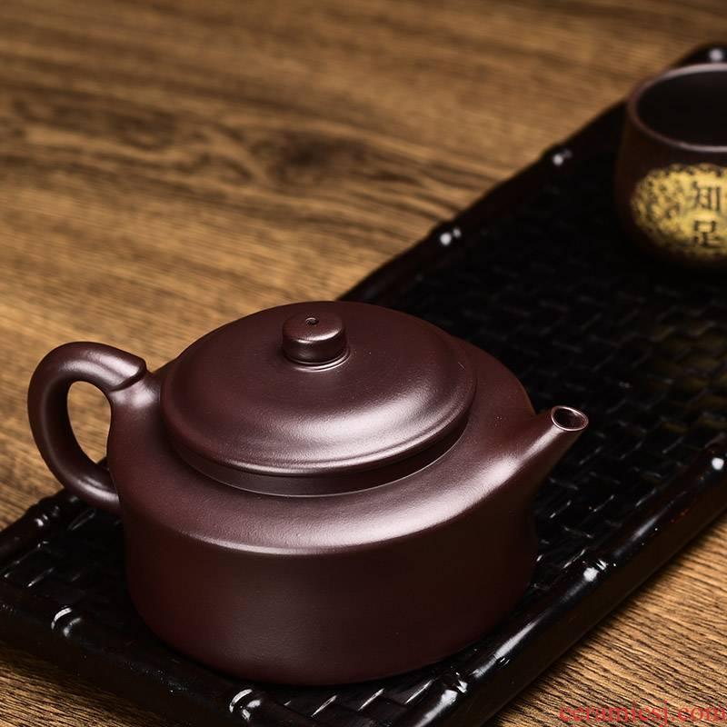 Shadow at yixing it hand writer with kung fu tea set undressed ore purple clay pot of zen bell 250 ccyst pot teapot