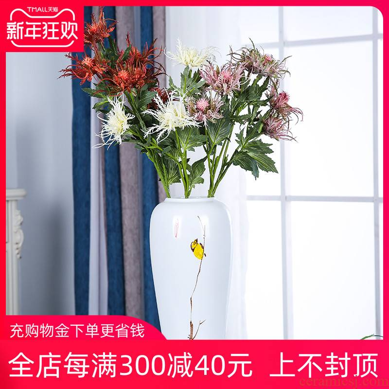 New Chinese style of jingdezhen ceramics three - piece flower arranging, mesa vase furnishing articles home sitting room gifts