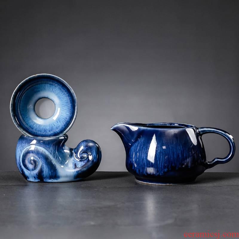 Hui shi) one catch tea strainer tea tea tea fair keller every ceramic filter accessories tea fair