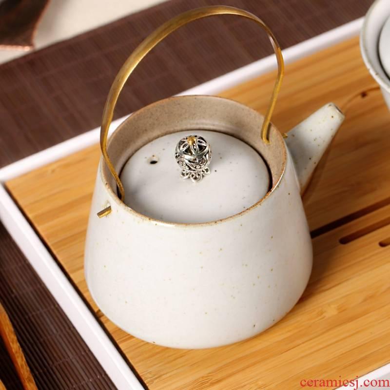 The kitchen hand filter girder pot teapot large GuTao coarse pottery teapot Japanese creative effort