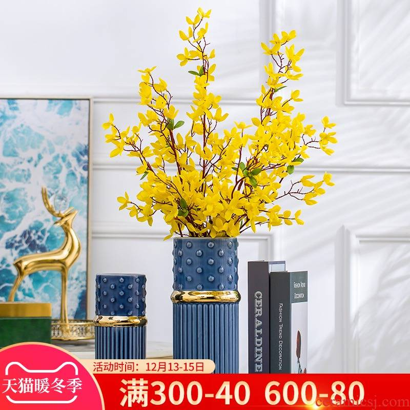 Jingdezhen ceramic vase furnishing articles I and contracted sitting room TV cabinet table creative household soft adornment arranging flowers