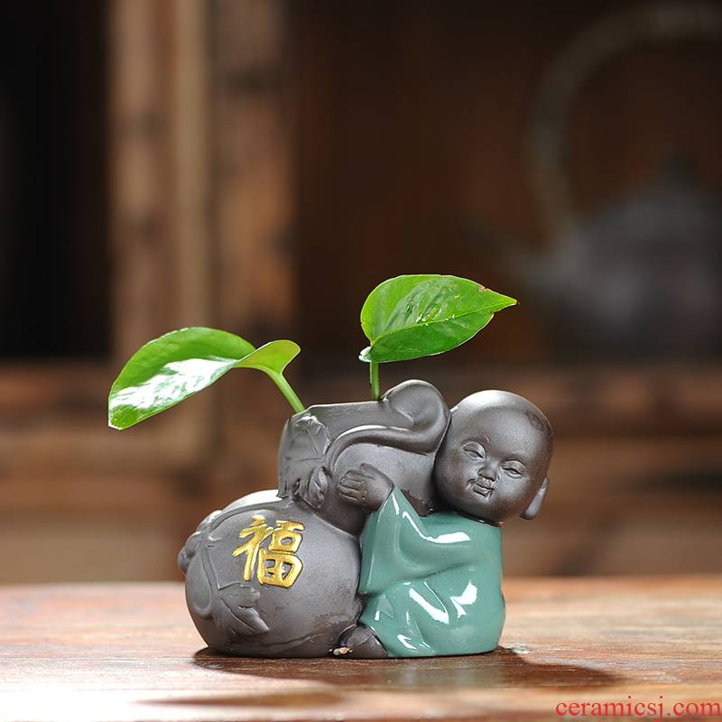 Creative to embellish elder brother up with ceramic floret bottle hydroponic money plant flower, dried flower vases, tea home furnishing articles sitting room
