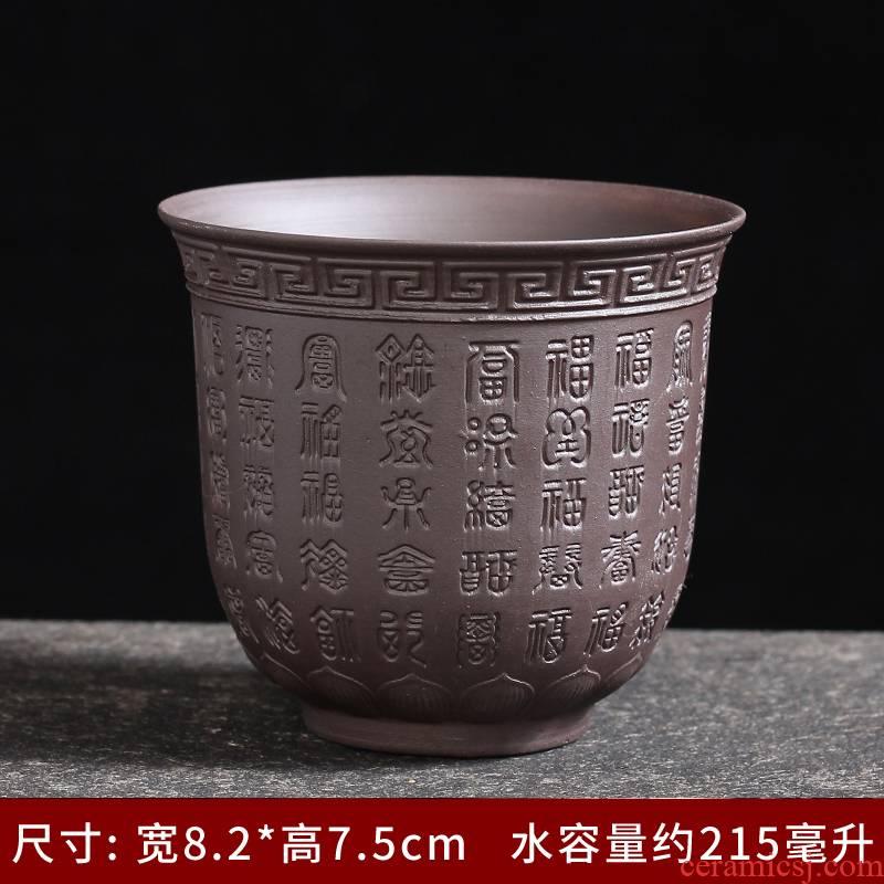 Purple sand tea sets ceramic kung fu tea cup tea tea taking of a complete set of household contracted suet jade teapot