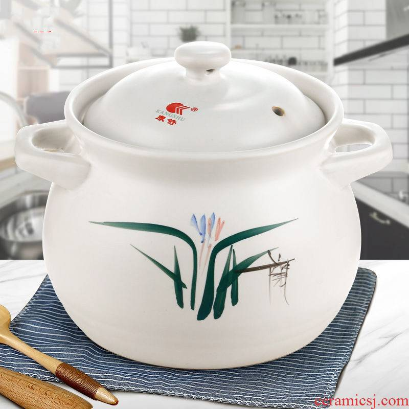 WuYou every large capacity soup pot, 4800 ml casseroles, high temperature resistant flame burns ceramic pot soup pot of stew