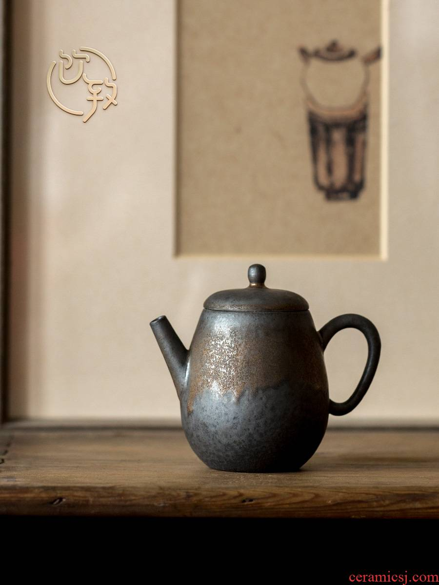 Ultimately responds to gold glaze teapot Japanese variable rough now restoring ancient ways people use miniature ceramic kung fu tea pot is small
