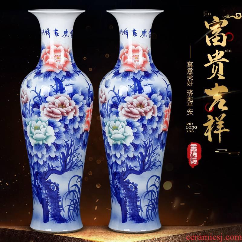 Furnishing articles hand - made porcelain of jingdezhen ceramics youligong landing big hotel opening gifts to heavy large vase
