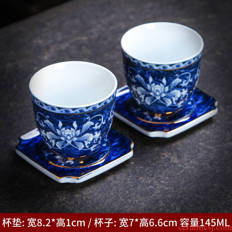 Japanese ceramic cups masters cup single cup Japan under the glaze color kung fu tea cups of blue and white porcelain tea set sample tea cup