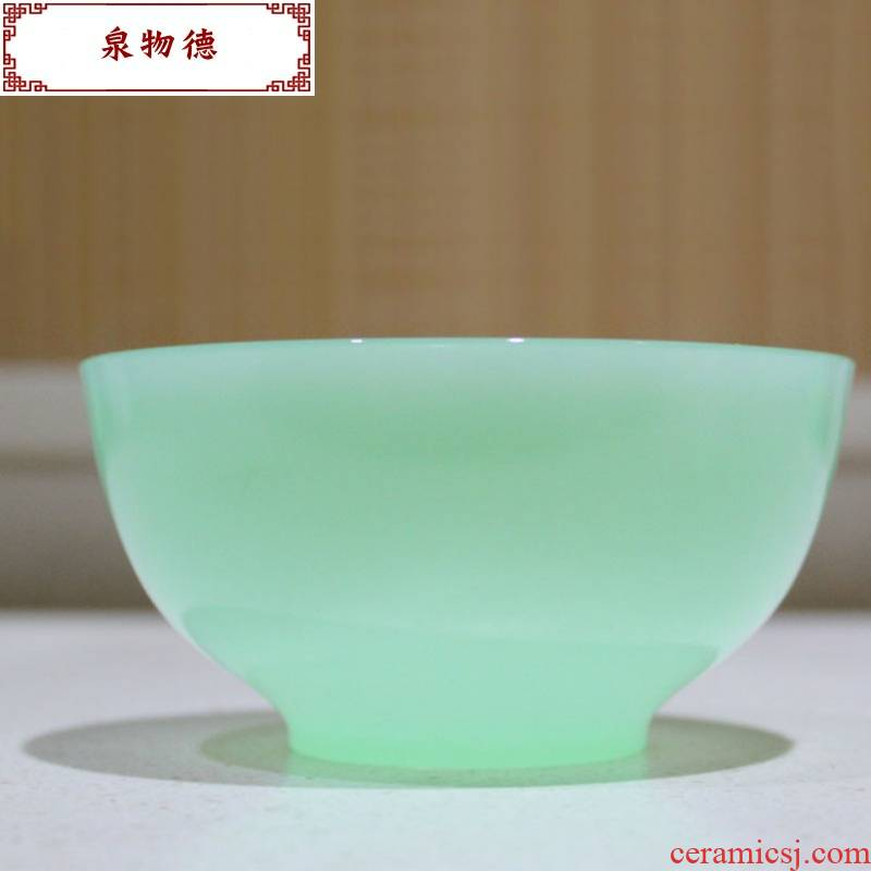 Small glass jade and jade bowl bowl high - grade rice bowls of the jade bowls household individuality rice bowls
