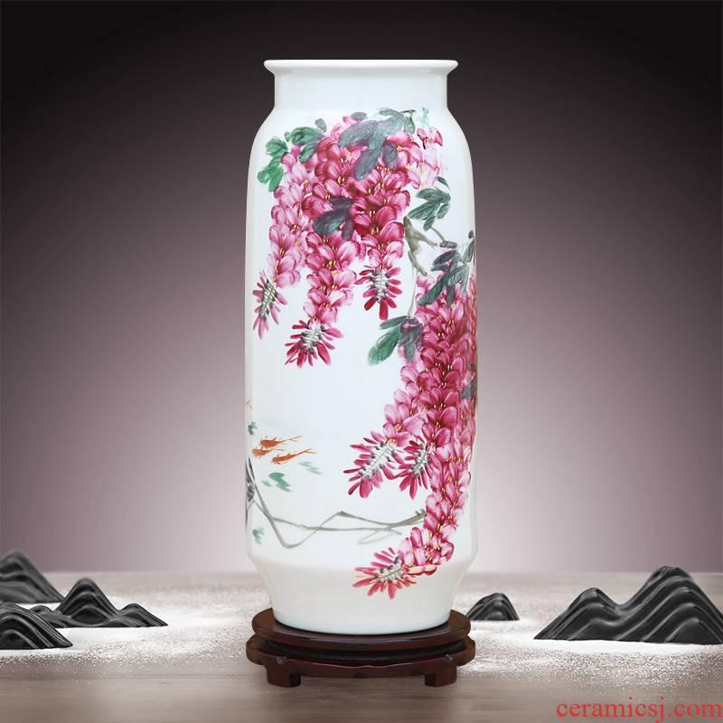 To ceramics hand - made carmine sabingga sukdun dergici jimbi vase