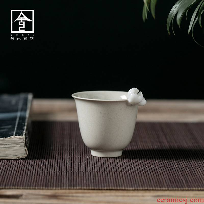 "The Self - ""appropriate content of jingdezhen plant ash sample tea cup tea cups carving kung fu tea cups Japanese contracted"