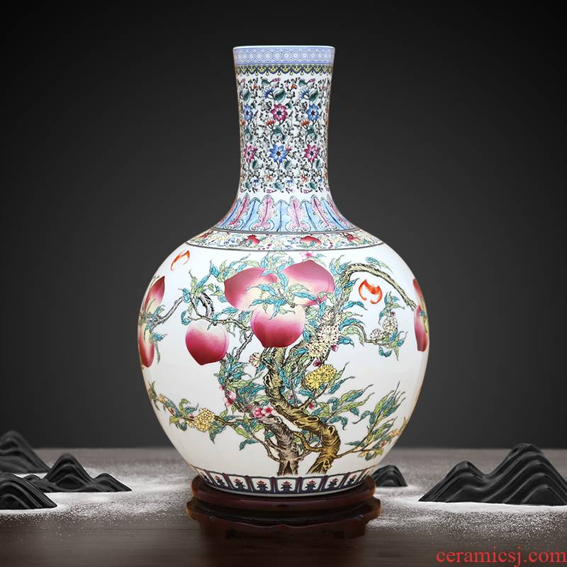 Archaize colored enamel nine peach tree to industry