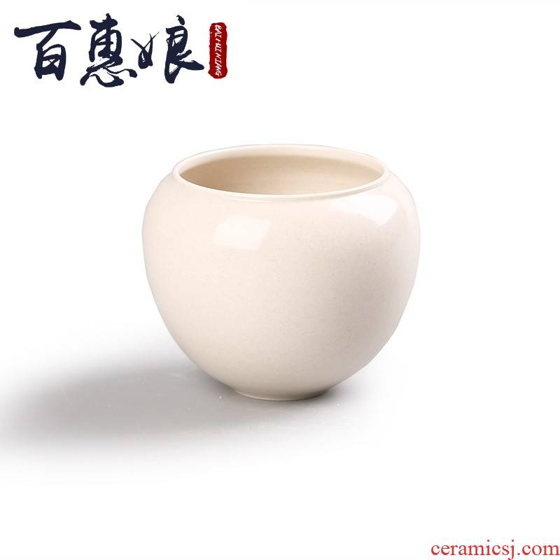 (niang jingdezhen ceramic tea by hand XiCha sea built plant ash water, after the wash to writing brush washer from Japanese kunfu tea cup