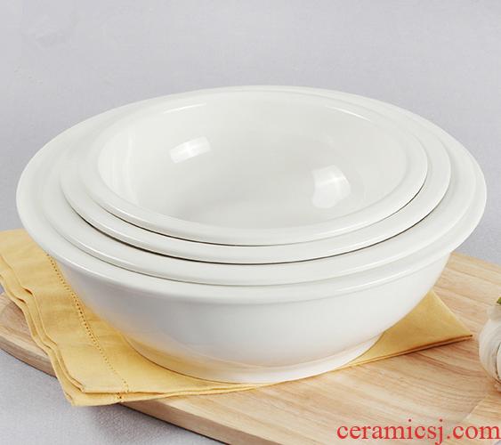 And white porcelain bathtub cubicle basin household rice basin basin basin ceramic bowl of rice soup bowl big store large pickled fish