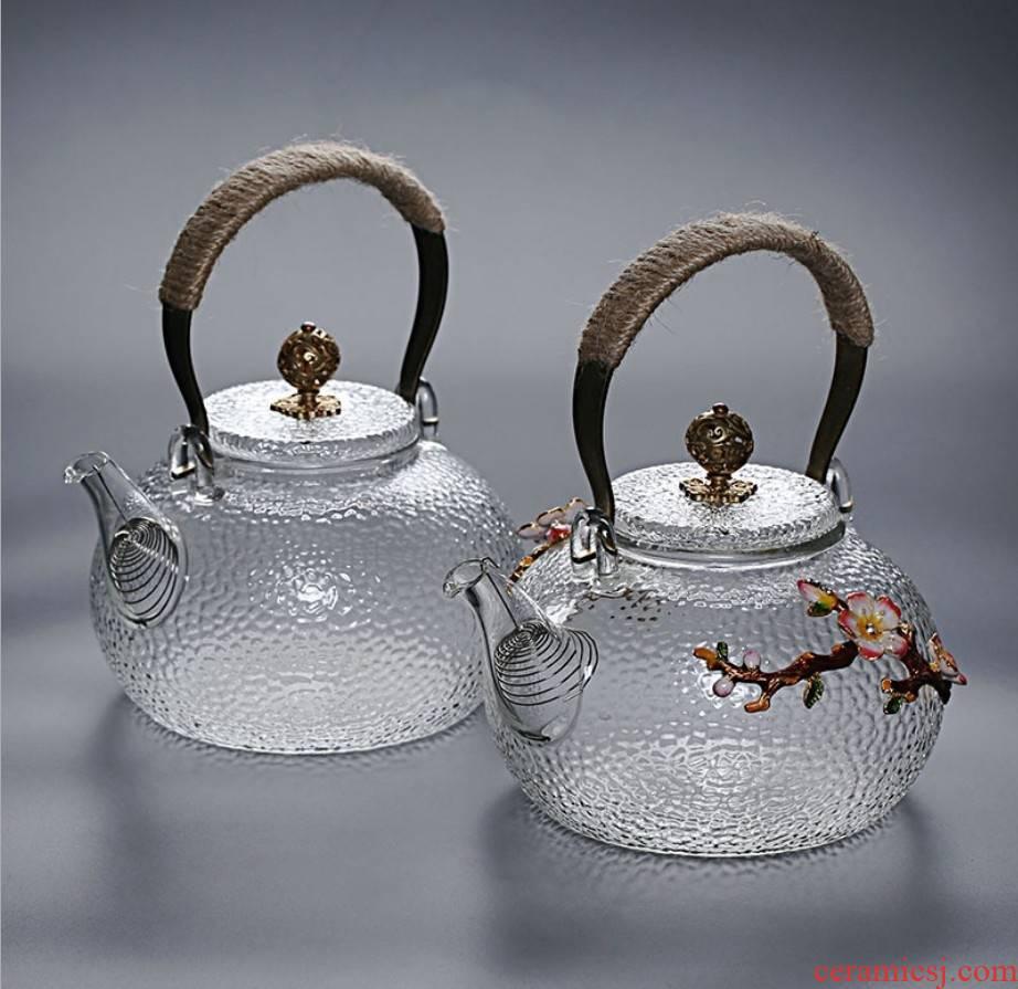 High temperature resistant glass pot hammer cooking pot electric TaoLu special kettle copper teapot the glass girder pot