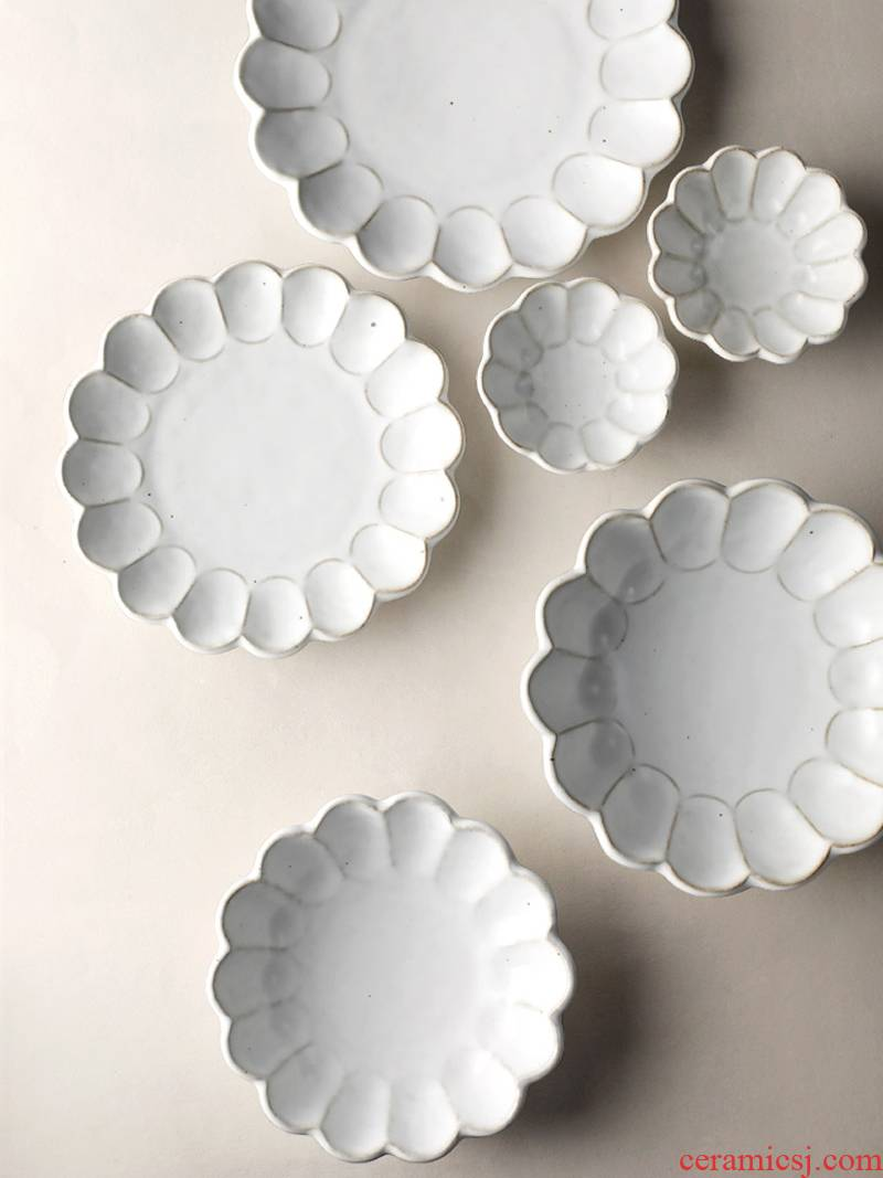 About Nine soil Japanese checking ceramic retro noodles in soup bowl dish of fish dishes a single process creative petals set of tableware