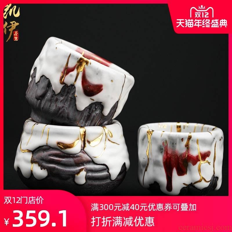 Chi wild jinzhan cup sample tea cup tire iron ash ceramic cups all hand jinzhan master of kung fu tea tea cup
