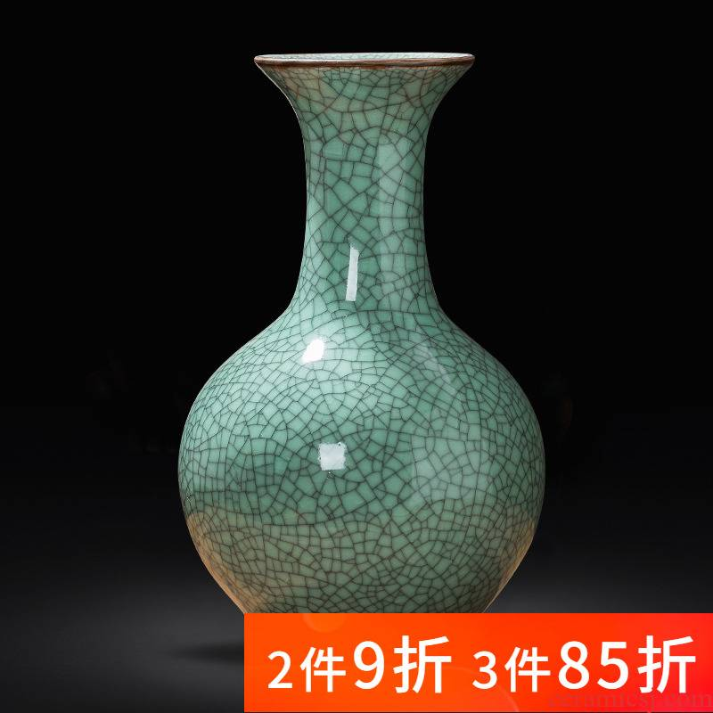 Archaize of jingdezhen porcelain ceramic kilns vases, flower arranging new Chinese style household furnishing articles rich ancient frame sitting room adornment