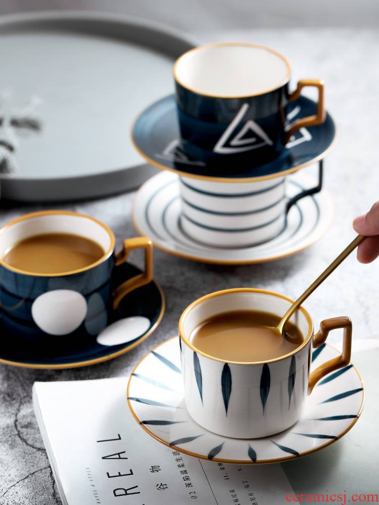 Japanese coffee cups and saucers suits for of high - grade ceramic keller single cup small key-2 luxury delicate water cup with a spoon