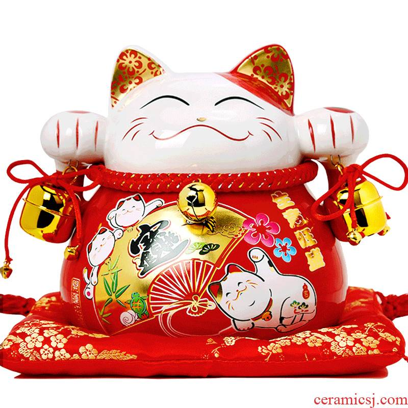 E7 plutus cat furnishing articles rich creative Japanese ceramics piggy Banks sitting room store opening business gifts