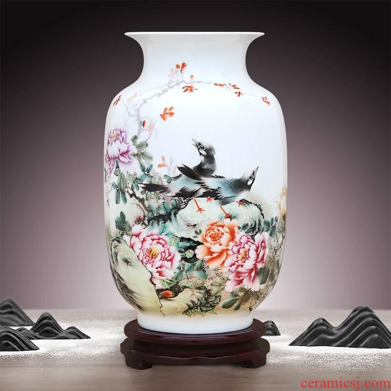 To ceramics thin foetus enamel porcelain charactizing a idea gourd bottle high white light home furnishing articles vases, flower implement