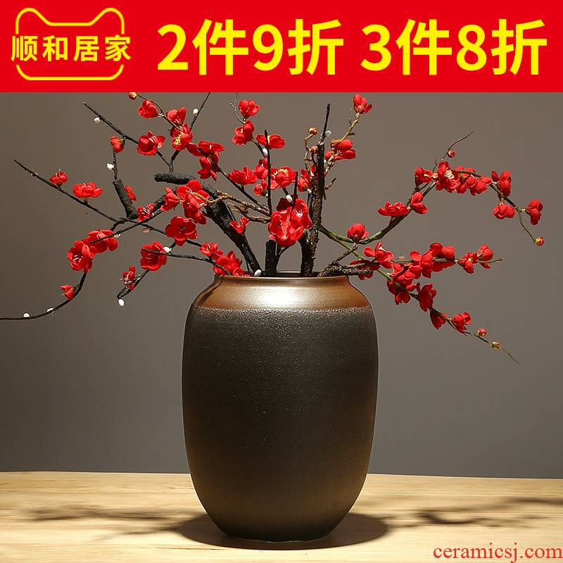 I and contracted vase creative furnishing articles flower arrangement sitting room adornment flowers, dried flowers, flower arrangement ceramic bottle put flower art