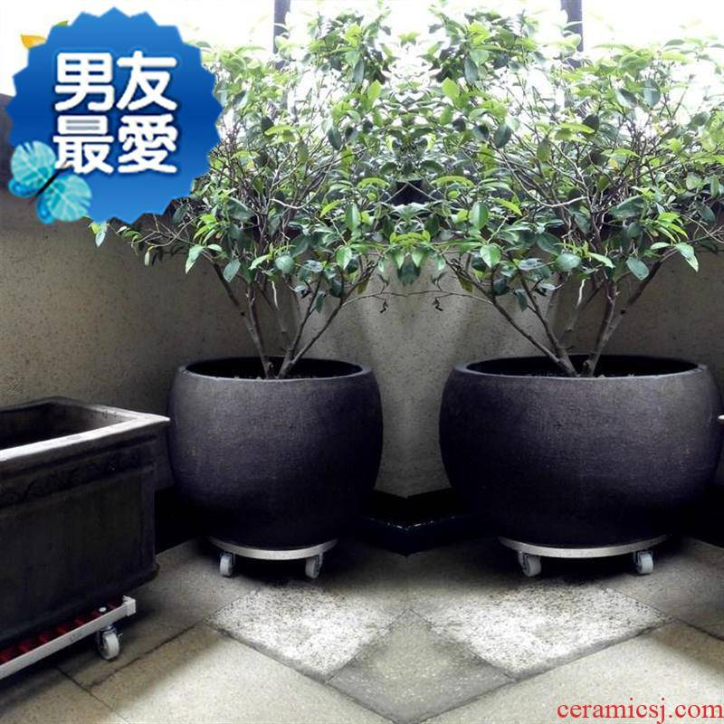 Pieces Pieces of new large circular mobile flower pot tray was upset mobile tray base chassis universal wheel