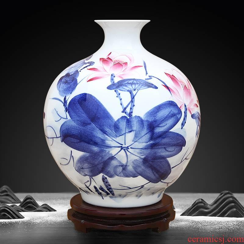 To ceramics rhyme color bucket load of blue and white porcelain vase