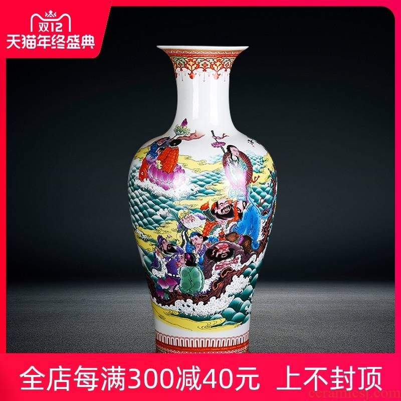 Jingdezhen ceramics archaize large vases, flower arrangement home furnishing articles rich ancient frame large ensemble feng shui living room